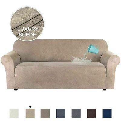 Water Repellent Sofa Cover Luxury Suede Couch Covers Velvet Stretch Slipcover