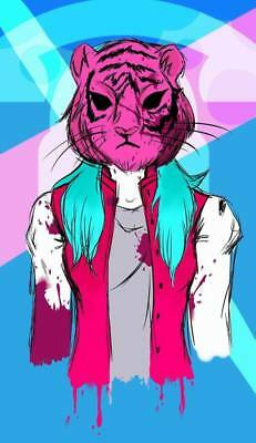"YX01583 Hotline Miami - Hot Action Video Game 14""x24"" Poster"