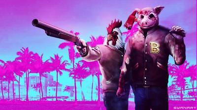 "YX01522 Hotline Miami - Hot Action Video Game 24""x14"" Poster"