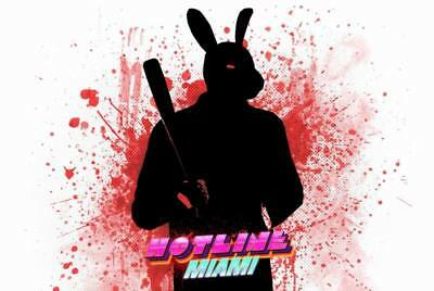 """YX01553 Hotline Miami - Hot Action Video Game 20""""x14"""" Poster"""