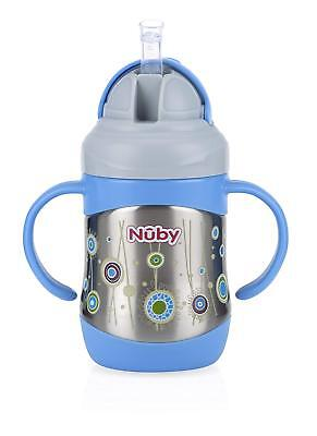 Nuby Stainless Steel Flip It Cup, Pink  NEW & FAST