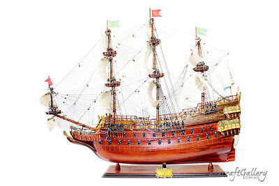 New Wasa 95Cm Handcrafted Wooden Model Tall Ship Boat Gift Decoration
