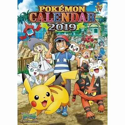 Pokemon 2019 Calendar JAPAN