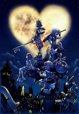"""YX00208 Kingdom Hearts - 1 2 3 Japan Action Role Playing Game 14""""x20"""" Poster"""