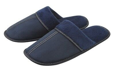 Mens Slippers Check Mule Soft Shoe Quilted Warm Comfort Size 6-11 UK Slip On
