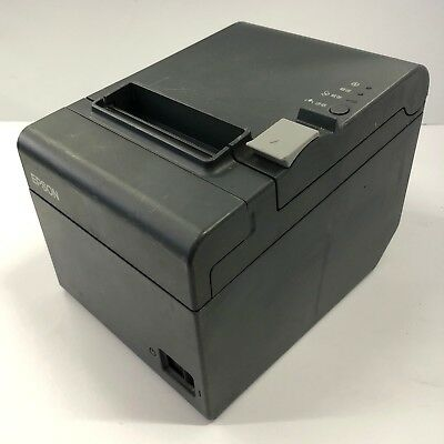 USED Epson TM-T20 POS Thermal Receipt Printer Built in Ethernet 1113P-BLK-L
