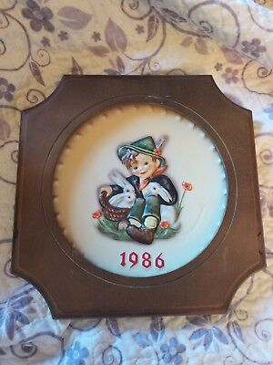 1986 M J Hummel 16th Annual Plate-Hand Painted-Made by Goebel in W. Germany