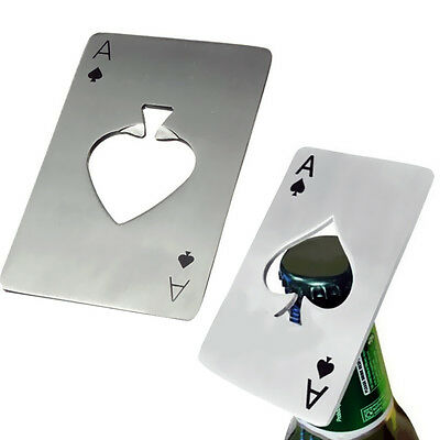 Funny Metal Outdoor Poker Playing Cards Throwing Toy Creative Bottle Opener gift