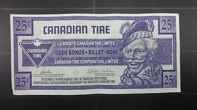Canadian Tire Money 25 Cent Bill Free Shipping