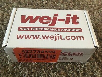 """Wej-It Ankr-TITE ATS1233 Wedge Anchors Stainless Steel 1/2""""×3-3/4"""" qty 25"""