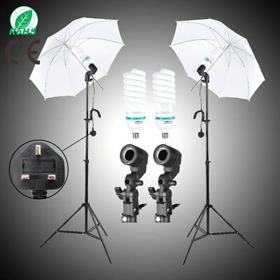 "2x135W Bulbs Photography 33"" Photo Studio Soft Umbrella Continuous Lighting Kit"