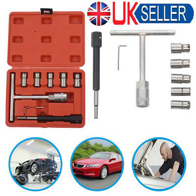 UK Professional 7PC Injector Seat Cutter Cleaner Tool Set Carbon Remover Case GT