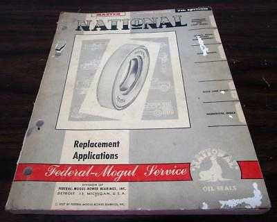 Vintage 1957 Federal Mogul Bower Master National Oil Seals Counter Catalog G