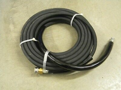 """3/8"""" x 50' Black Power Pressure Washer Hose 4000 PSI w/Quick Connect Socket R1"""