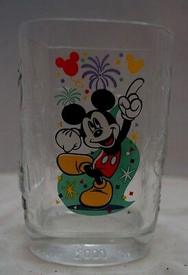 McDonalds Walt Disney-Magic Kingdom Mickey Mouse 2000 Millennium Collector Glass