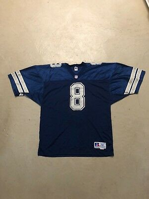 outlet store 4dca6 efb92 VTG 90S RUSSELL Dallas Cowboys TROY AIKMAN Blue Football Jersey 52 PRO CUT