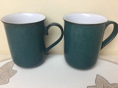 Denby Greenwich 2 x Straight Sided Mug Used Condition