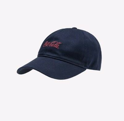 3d573e400d3ab KITH COCA-COLA CLASSIC COKE LOGO NAVY HAT red script CAP DS - SOLD OUT
