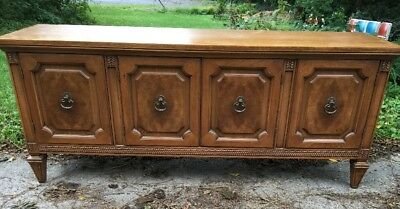 """Vintage Mt. Airy Low Buffet Sideboard Cabinet Drawers and Doors Storage 64.5""""L x"""