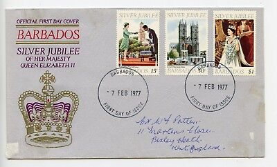 Barbados 1977 FDC First Day Cover Royal Silver Jubilee (P115)