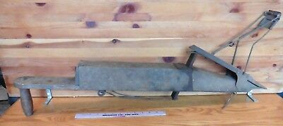 Vintage Corn Seed Planter Wood Handle Garden Seeder Farm Tool Antique Primitive