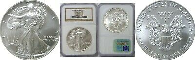 1992 $1 American Silver Eagle NGC MS69