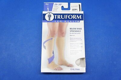 Truform 0865WH-L Large size Compression Stocking Soft Top Open Toe 20-30 mmHg