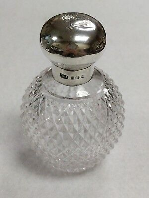 Antique Victorian 1886 Horton & Allday Sterling Silver Cut Glass Perfume Bottle