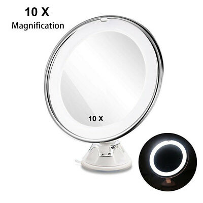 10X Magnifying Makeup Mirror Cosmetic Beauty Vanity LED Lightup 360° Rotation