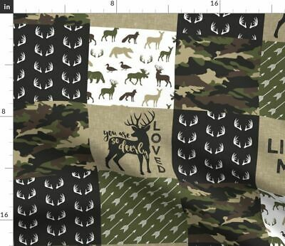 Camouflage Camo Hunting Deer Woodland Baby Boy Fabric Printed by Spoonflower BTY
