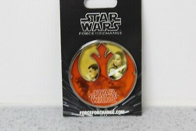 NEW Disney Star Wars Last Jedi Force For Change Large Pin FREE S&H