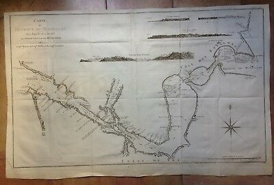 South America Strait Of Magellan 1774 James Cook Very Large Antique Engraved Map