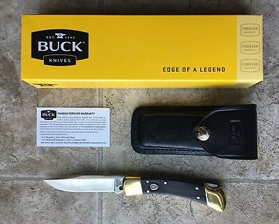 Buck 110 Auto Ebony Dymondwood Knife NIB