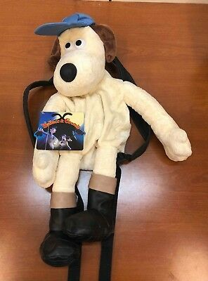 Vintage Aardman Wallace and GROMIT Plush Dog Backpack w/ Tags AWESOME!