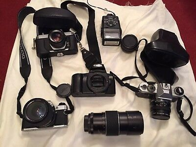 Retro Vintage 35mm Film Cameras Joblot  USED UNTESTED