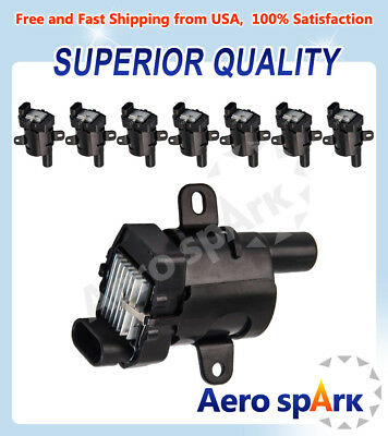 Pack 8 Ignition Coils on Plug UF262 For Buick Chevrolet Isuzu GMC 4.8L 5.3L 6.0L