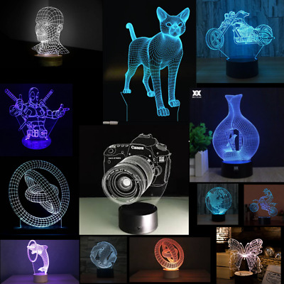 40+ DXF/CDR CNC // 3D illusion lamp files for laser, plasma cutter, waterjet