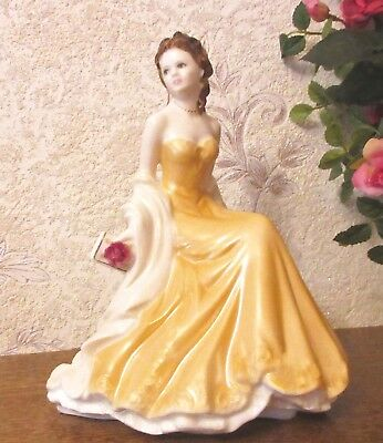 Figurine Worcester pretty ladies en porcelaine Or
