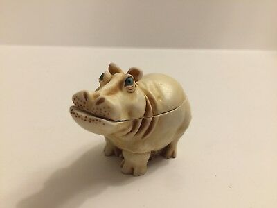 Harmony Kingdom It's A Fine Day Hippo Retired 6/1/1996 Small Trinket Box