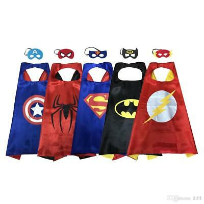 Super Hero Dress Up Costumes With Masks and Capes For Kids Free Shipping