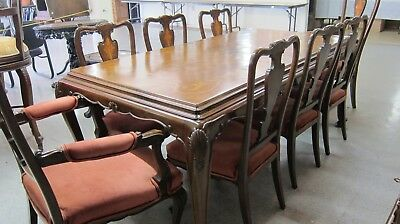 Antique 10-PC. Dining Room Suite. Table, 8 Chairs & Buffet/Server