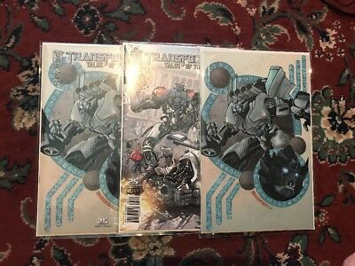 Transformers IDW Tales Of The Fallen Issue #2A B and RI Retailer Mylar Archival