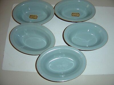 Denby  Homestead Brown Pie Dishes of 5