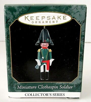 NEW 1999 Hallmark Ornament MINIATURE CLOTHESPIN SOLDER French Officer Series #5