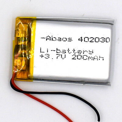5pcs 3.7V Li-polymer Rechargeable Battery Li-ion Cell For MP3 GPS 200mAh 402030