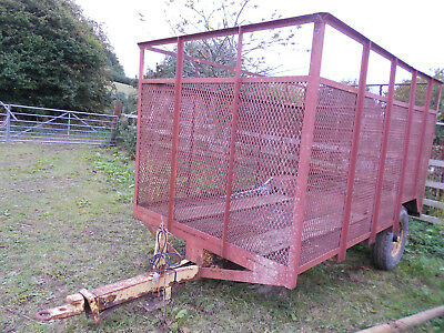 Mesh sided trailer4 tractor mini digger farm bales bulk transport smallholding