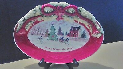"""Fitz and Floyd """" Home Warms The Heart"""" sentiment tray"""