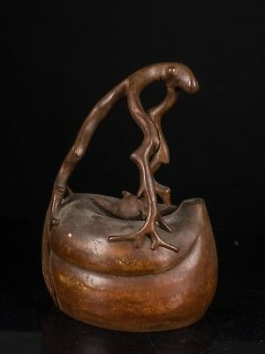 1890-1940 Chinese Antique Large Size Bamboo Tea Pot CB1756DS