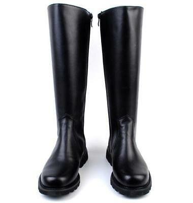 726c4edea0e 9 Mens Combat Officer Military Knight Leather Knee High Riding Casual Boot  Black