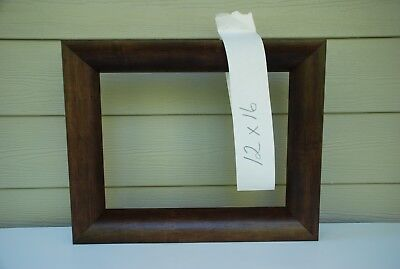 """12"""" x 16"""" Custom-made Picture Frame (lighter brown #2011-078)"""